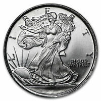 1/10 oz .999 Solid Fine Silver Round - Newly Minted - Walking Liberty