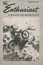1950 February - The Enthusiast - Vintage Harley-Davidson Motorcycle Magazine