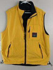 VTG 90's Abercrombie & Fitch Reversible Fleece Vest Yellow size L