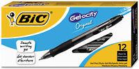 BIC Gel-ocity Retractable Gel Pen, .7mm, Medium, Black, 12pk.