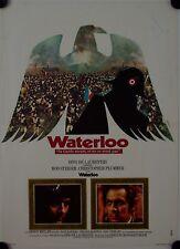 Affiche Cinéma WATERLOO 1970 BONDARTCHOUK Steiger Plummer Welles - 40x60