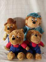 Bernstein Bears Papa Bear, mama, and two brother bear lot, stuffed bear plush