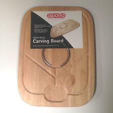 NUOVO Qualità in legno Hevea legno a base di carne di volatili da cortile Carving Board Set con Anello drogati