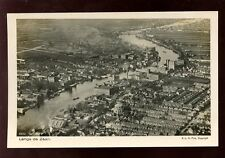 Holland Netherlands LANGS de ZAAN Aerial View RP PPC by KLM