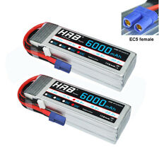 2pcs HRB 14.8V 4S 6000mAh RC Lipo Battery 50C 100C EC5 for Drone Helicopter Car