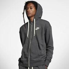 Nike M NSW Heritage hoodie FZ Felpa Uomo Nero Black/htr/sail 010 XLarge