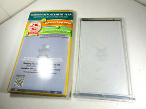 Ideal Pet Products Aluminum Dog Door Vinyl Replacement Flap - MEDIUM