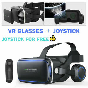 VR Headset BOX 3D Virtual Reality Glasses Fit Iphone 12 11 X XR Samsung S9 S8 S7