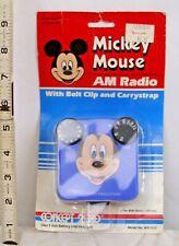 MICKEY MOUSE TRANSISTOR RADIO 1970s CONCEPT 2000 STILL ON CARD