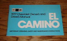 1977 Chevrolet El Camino Owners Operators Manual 77 Chevy