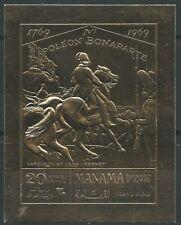Manama 1970 ** Mi.A276 B Gold Foil Napoleon Bonaparte Geburtstag Birthday