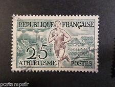 FRANCE 1953, timbre 961, JEUX OLYMPIQUES HELSINKI, oblitéré, ATHLETISME, SPORT