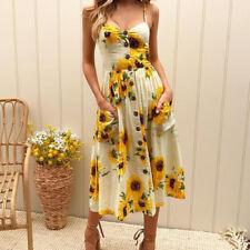 Women Summer Boho Long Maxi Evening Party Cocktail Beach Dress Sundress PlusSize