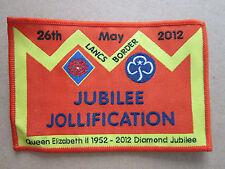 Lancs Border Diamond Jubilee 2012 Girl Guides Cloth Patch Badge (L2K)