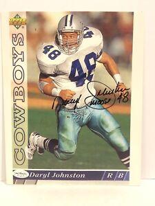 "Daryl Johnston SIGNED Dallas Cowboys 8x10 color photo w/ JSA Coa & ""MOOSE"" inscr"