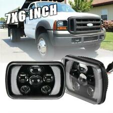 """Pair 5X7"""" 7x6"""" LED Headlight Hi/Low H4 DRL For For Ford F250 F350 F450 F550 AU"""