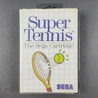 Super Tennis | Sega Master System | Aus PAL| With Manual | Tracked Post