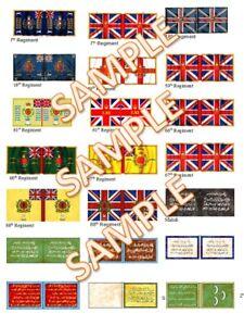 1/72 British Sudan Mahdi Flags lot