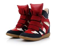 Annakestle Womens High-TOP Sneakers Hidden Heel  Shoes/Ladys Ankle Wedge Boots