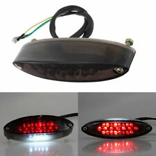 Motorcycle LED Rear Tail Brake Stop Light Custom Bike Number Plate Light Smoke