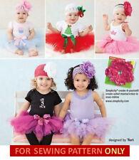 SALE! SEWING PATTERN! MAKE BABY TUTU COSTUME! NO SEW~EASY! 17~24 POUNDS~PRINCESS