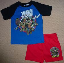 NWT TMNT Teenage Mutant Ninja Turtles Licensed Boys Summer Pyjamas Size 3 or 7