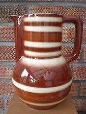 Retro Stripey Pottery Water Jug or Lemonade Jug 1950s/60s