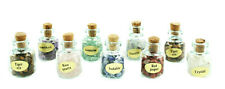 Gemstone Eggs with Stand 10pcs + Gemstone Chips Bottles 9pcs All Natural Stones