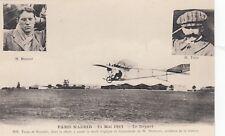 Wettflug París-Madrid 1911 foto-ak Louis Train monoplan avión Aviation 1808018