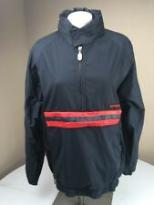 Vtg 80s 90s SPYDER Activewear pullover Black/Red Riding Moto Jacket Medium