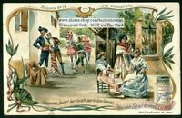 Women At The Fair In Valence Spain c1904 Trade Ad  Card