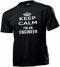 T-SHIRT UOMO HAPPINESS Keep Calm  I'M AN  engineer - un ingegnere
