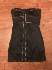 Miso Black Studded Strapless Silky Feel Dress Size 8