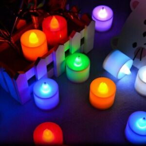 LED Candle Lamp Super Realistic Flameless Electronic Tea Light Multicolor RLM710