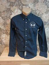 LA MARTINA Men's  shirt size S  slim fit blue color