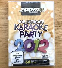 ZOOM The Ultimate Karaoke Party 2012 - 60 TRACKS 2 DVD SET - BRAND NEW SEALED