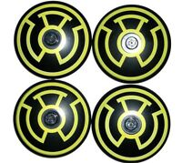 LEGO 4 Black Dish 4 x 4 Inverted Radar with Yellow Sinestro Logo Pattern 76025