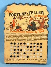 1929 Halloween Fortune Teller in Rhyme Punch Board Party Game Witch Owl Coo Coo