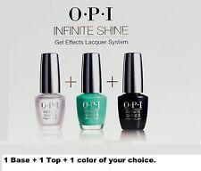 OPI Nail Polish Infinite Shine Base +Top +1 Color of your choice ~ 3 ct ~