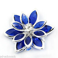 10 Königblau Lotus Strass Perlen Beads zum Kleben 23x24mm