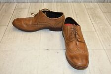 Rockport Style Purpose Leather Wingtip Oxfords, Men's Size 9W, Tan