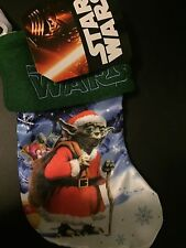 STAR WARS HOLIDAY STOCKING Yoda Santa NEW Christmas 7 In