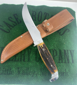 case xx 523-6 Stag Fixed Blade Knife 1965-1969 Unused Great Stag Original Sheath