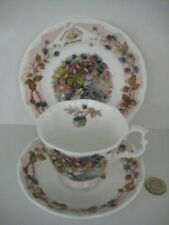 ROYAL DOULTON BRAMBLY HEDGE AUTUMN FULL SIZE TRIO TEA CUP SAUCER PLATE ENGLAND
