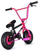 "FatBoy Stunt Mini 10"" BMX Bicycle Fat Tire Freestyle Bike Hellcat Pink Black NEW"