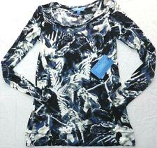 Womens SHIRT blouse simply vera wang MEDIUM long sleeve soft top