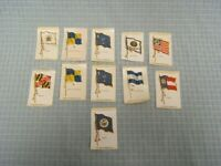 Vintage Lot of 11 State Flags Tobacco Silks Old Mill Cigarettes VA