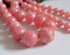 Feinste RHODOCHROSIT Stein Kugel Kette - edel, große Perlen