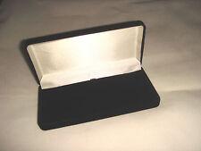 New Boxed Black Velvet Hinged Lined Jewellery Padded Inner Gift Box