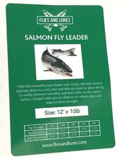 Salmon Fly line leader tapered knotless 12'. 3 sizes